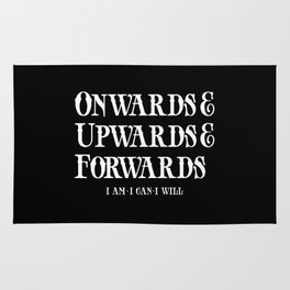 Onwards&Upwards&Forwards. Rug