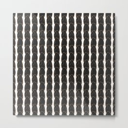 geo six looping-charcoal Metal Print