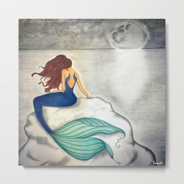 MERMAID AFTER DARK Metal Print