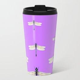 GAUZY WINGED DRAGONFLIES ON LILAC Travel Mug