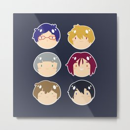 free! ball-faces Metal Print