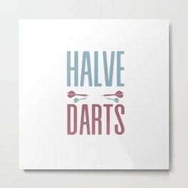 Halve It Darts Dart Bullseye Metal Print