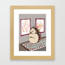 Hedgehog Artist Framed Art Print