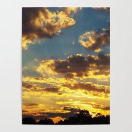 Yellow Sunset Poster