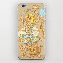Funny rock girl iPhone Skin