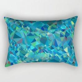green turquoise luxurious sparkling geometric crystals Rectangular Pillow