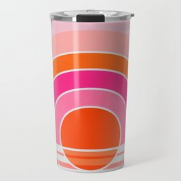 Rainbow sunset Travel Mug