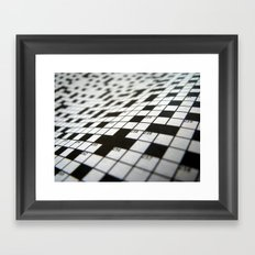 Crossword Framed Art Print