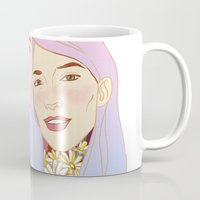girls Mugs featuring Girls by podborski