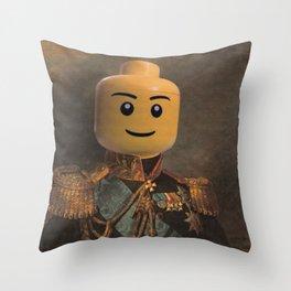 Le-go Man General Portait Painting   Fan Art Throw Pillow