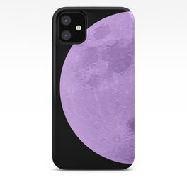 LAVENDER MOON // BLACK SKY iPhone Case