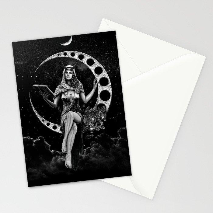 II. The High Priestess Tarot Card Illustration (Alternative Version) Stationery Cards