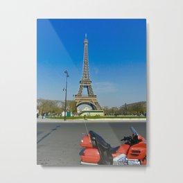 Ride to Paris Metal Print