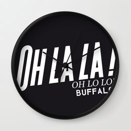 OH LO LO Wall Clock