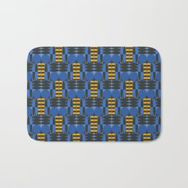 Sixties inspired pattern with circles and ellipses in blue Bath Mat