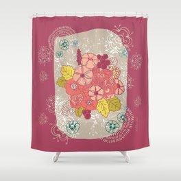 Vintage flowers bunch Shower Curtain