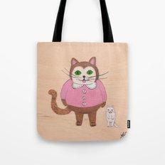 Two Kitties Tote Bag