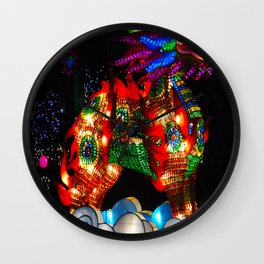Dragon in the clouds Wall Clock