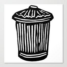 Trash Can Canvas Print