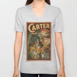 Vintage poster - Carter the Great Unisex V-Neck