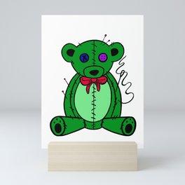 pins and needles teddy bear Mini Art Print
