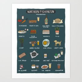 Northern Fishington Art Print