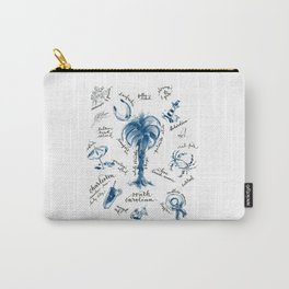 SC Beaches Blue and White Carry-All Pouch