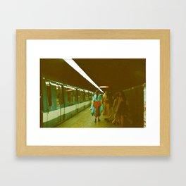 Montreal Metro Framed Art Print