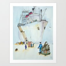 In the seaport Art Print