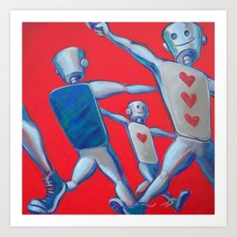 Our hearts march on Art Print