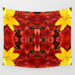 """""""A Gathering of Lilies"""" Remix - 1 (2-1) [D4465~12] Wall Tapestry"""