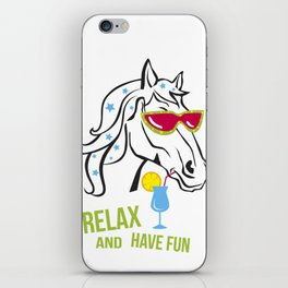 Funny horse iPhone Skin