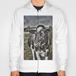 Melancholic Black White Dutch Cow Hoody