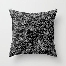 White/Black #1 Throw Pillow