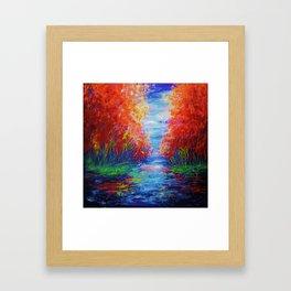 Lake View by OLena Art Framed Art Print