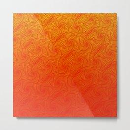 Orage, red & yellow optic art pattern Metal Print