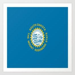 flag of south dakota,america,us,mount rushmore,dakotan,midwest,Sioux fall,rapid city,aberdeen,Pierre Art Print