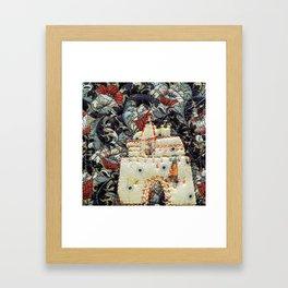 Fairy tale castle in cream Framed Art Print