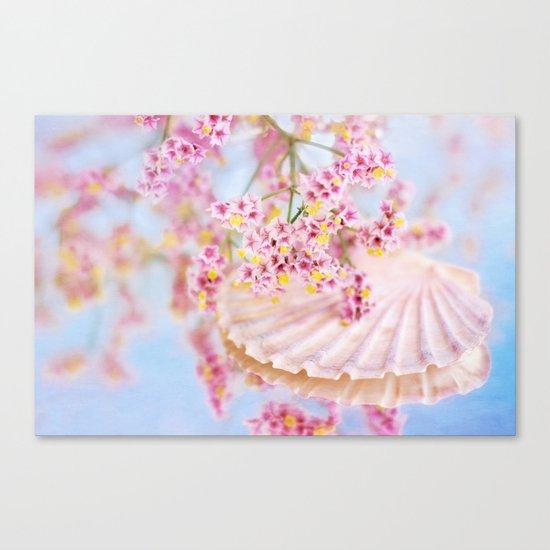 PINK SEA SHELL DREAM Canvas Print