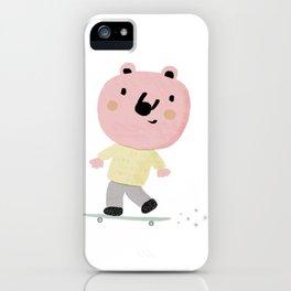 Bear Skater iPhone Case