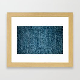 Jeans textile Framed Art Print