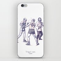 freud iPhone & iPod Skins featuring Freud, Jung, and Watts, walk into a bar... by Salgood Sam