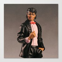 michael jackson Canvas Prints featuring Jackson by 2coolstuff
