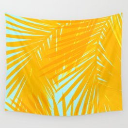 Palms Tangerine & Blue Wall Tapestry