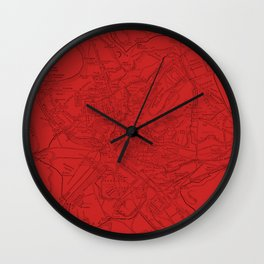 Ancient Rome in Red Wall Clock