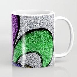 Fleur De Lis Purple Green and Gold Coffee Mug