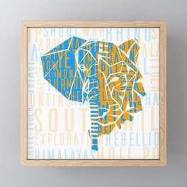 The Elephant and The Tiger Framed Mini Art Print