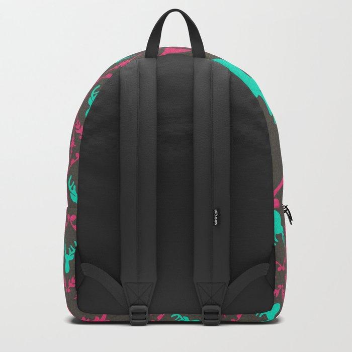 Oh Deer (teal dark) Backpack