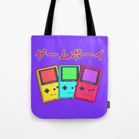gameboy Tote Bags featuring Gameboy by Chrome