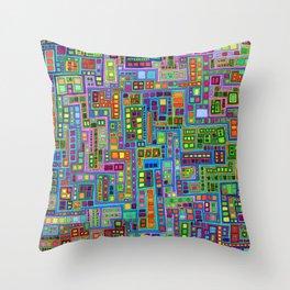 Tiled City Throw Pillow
